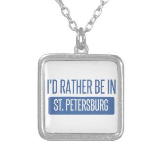Colar Banhado A Prata St Petersburg