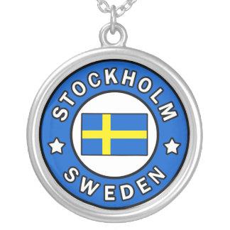 Colar Banhado A Prata Suecia de Éstocolmo