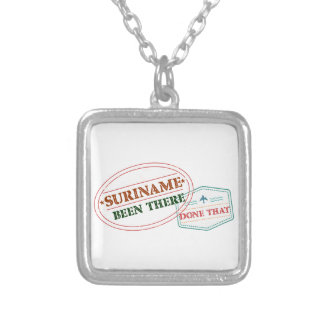 Colar Banhado A Prata Suriname feito lá