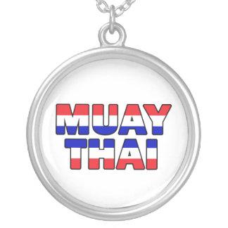 Colar Banhado A Prata Tailandês de Muay