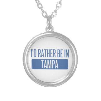 Colar Banhado A Prata Tampa