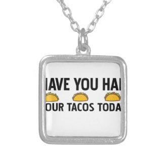 Colar Banhado A Prata Tem você comeu seu tacos hoje