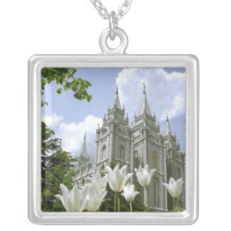 Colar Banhado A Prata Templo de Salt Lake City LDS