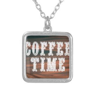 Colar Banhado A Prata Tempo do café