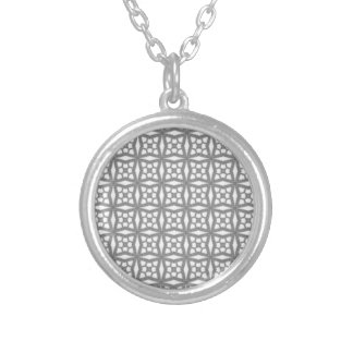 Colar Banhado A Prata Teste padrão decorativo geométrico do nó celta