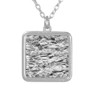 Colar Banhado A Prata Teste padrão do alumínio do metal da prata da