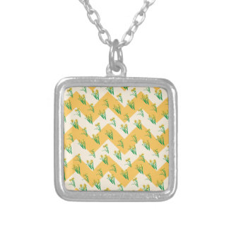 Colar Banhado A Prata Teste padrão dos Daffodils