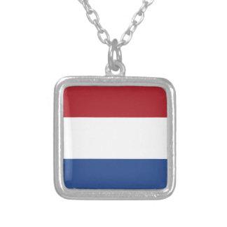 Colar Banhado A Prata Teste padrão patriótico de Netherland Holland