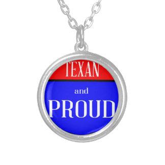 Colar Banhado A Prata Texas e orgulhoso