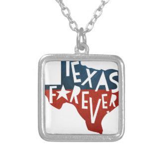 Colar Banhado A Prata Texas para sempre