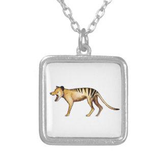 Colar Banhado A Prata Tigre tasmaniano, Thylacine