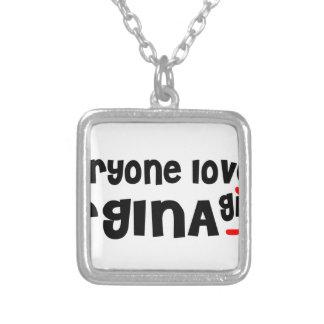 Colar Banhado A Prata Todos ama uma menina de Regina