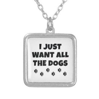 Colar Banhado A Prata Todos os cães