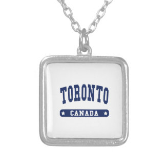 Colar Banhado A Prata Toronto