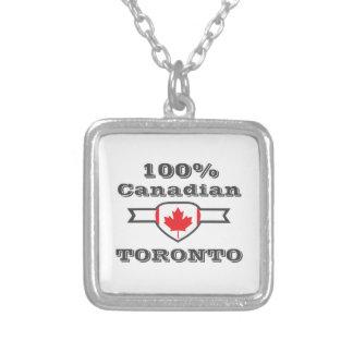 Colar Banhado A Prata Toronto 100%