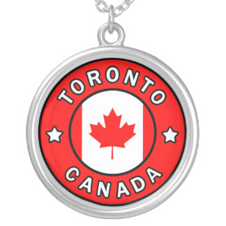 Colar Banhado A Prata Toronto Canadá