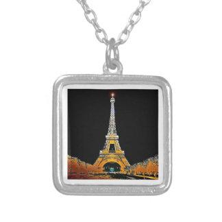 Colar Banhado A Prata Torre Eiffel, Paris, France
