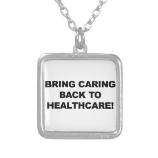 Colar Banhado A Prata Traga o inquietação de volta aos cuidados médicos