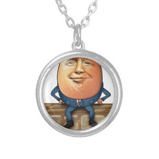 Colar Banhado A Prata Trumpty Dumpty