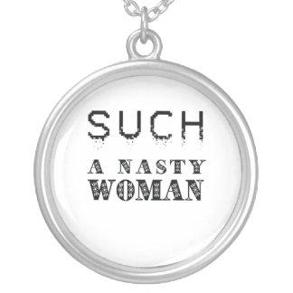 Colar Banhado A Prata Trunfo/mulher tão desagradável