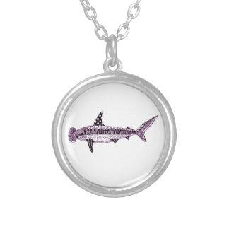 Colar Banhado A Prata Tubarão de Hammerhead