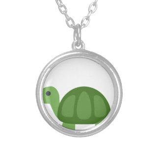 Colar Banhado A Prata Turtle Emoji