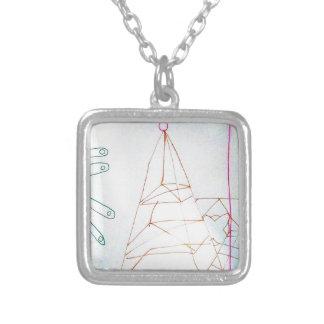 Colar Banhado A Prata Um jogo do grânulo de vidro dos Geometers