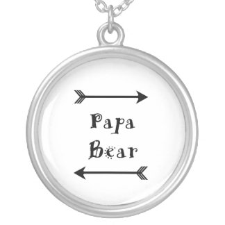 Colar Banhado A Prata Urso da papá