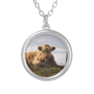 Colar Banhado A Prata Vaca de Luing na ilha de Islay, Scotland