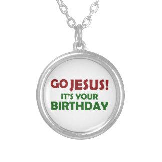Colar Banhado A Prata Vai Jesus! Seu seu aniversário