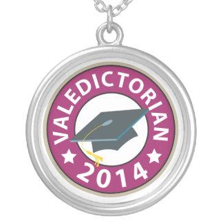 Colar Banhado A Prata Valedictorian