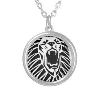 Colar Banhado A Prata vecto principal do leão