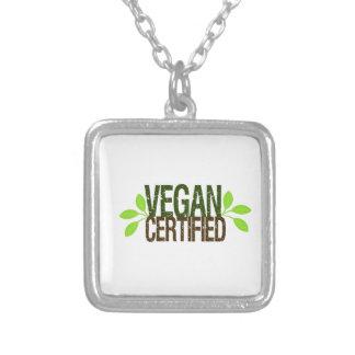 Colar Banhado A Prata Vegan certificado