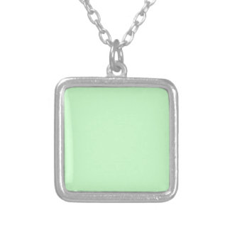 Colar Banhado A Prata Verde da hortelã da luz da cor da Web do código do