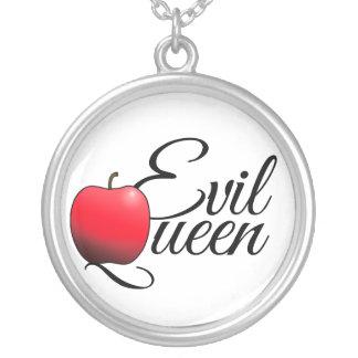 Colar Banhado A Prata Vermelho mau Apple da rainha