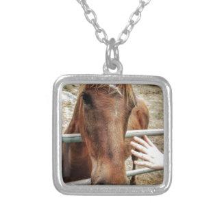 Colar Banhado A Prata Vida do cavalo