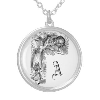 Colar Banhado A Prata Vintage Alice gato no país das maravilhas,