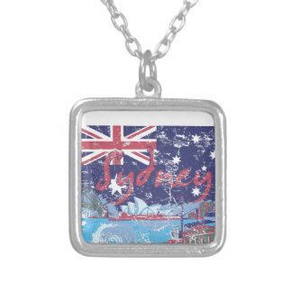 Colar Banhado A Prata vintage Austrália de sydney