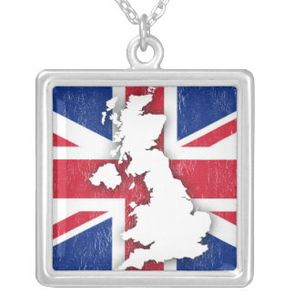 Colar Banhado A Prata Vintage Reino Unido