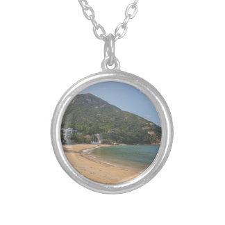 Colar Banhado A Prata Vista panorâmica da ilha macilento de Sok Kwu