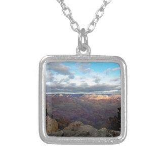 Colar Banhado A Prata Vista panorâmica do Grand Canyon