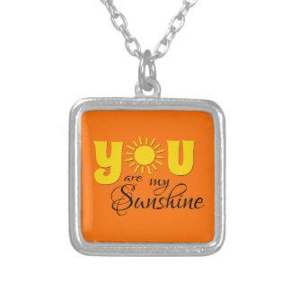 Colar Banhado A Prata Você é minha luz do sol