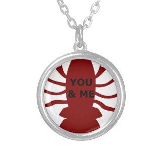 Colar Banhado A Prata Você & eu são lagostas
