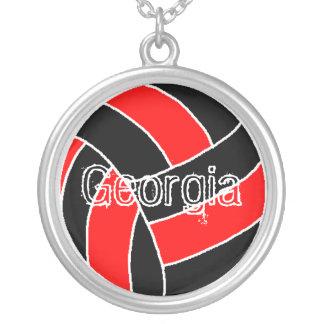 Colar Banhado A Prata Voleibol de Geórgia