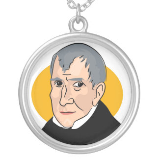 Colar Banhado A Prata William Henry Harrison