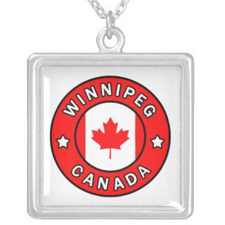Colar Banhado A Prata Winnipeg Canadá
