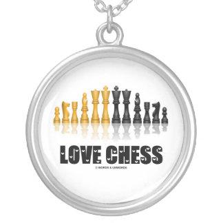 Colar Banhado A Prata Xadrez do amor (atitude da xadrez)