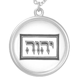 Colar Banhado A Prata YHWH o nome divino do deus