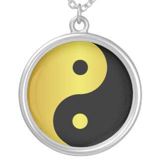 Colar Banhado A Prata Zen asiático da filosofia do ouro do símbolo | de