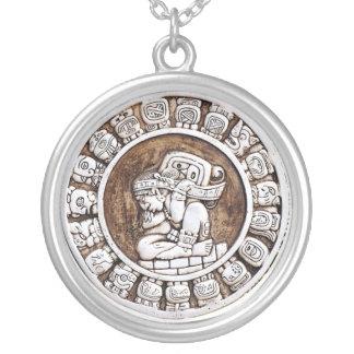 Colar Banhado A Prata Zodíaco maia